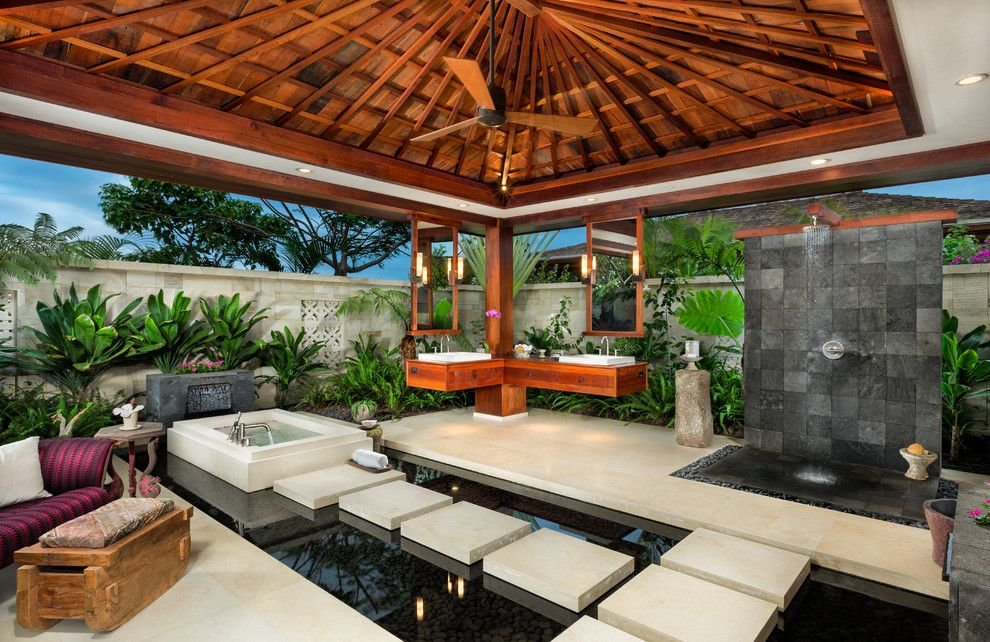 Lowes Hawaii for a Tropical Bathroom with a Open Bathroom and Portfolio by Ethan Tweedie Photography, LLC