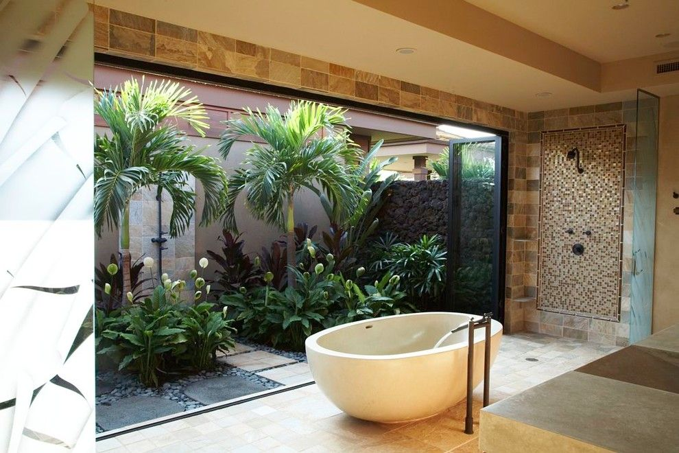 Lowes Hawaii for a Tropical Bathroom with a Zen Bath and Zen Bathroom by Willman Interiors / Gina Willman, Asid