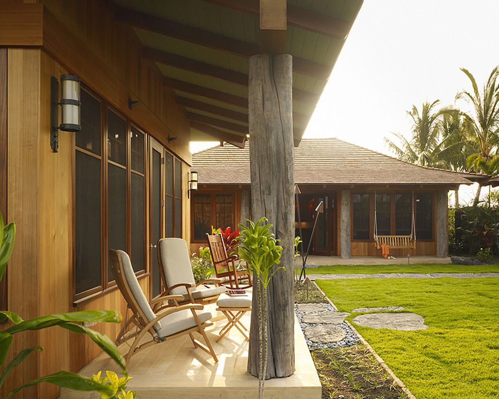 Lowes Hawaii for a Tropical Exterior with a Wood Columns and Hawaii Residence by Slifer Designs