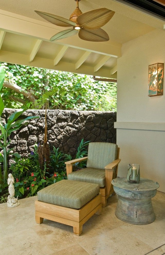 Lowes Hawaii for a Tropical Patio with a Candle Holders and Lania Seating by Archipelago Hawaii Luxury Home Designs