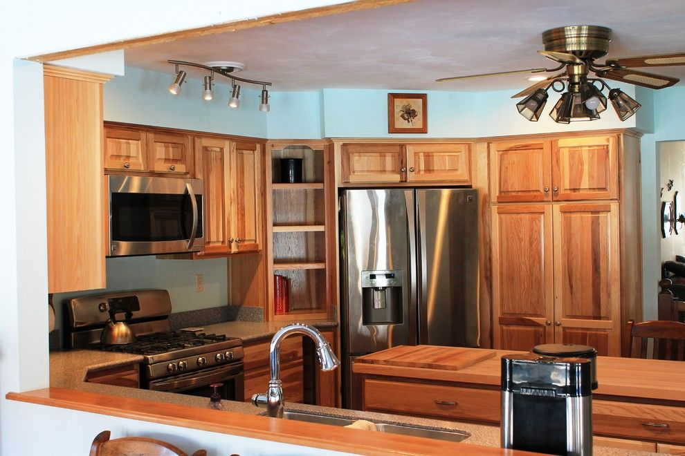 Lowes Langhorne Pa for a Rustic Kitchen with a Rustic and Erie, Pa Hickory Traditional Kitchen by Innovations by Vp
