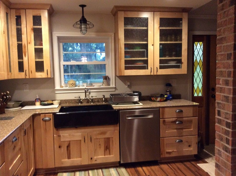 Lowes Lufkin Tx for a Rustic Kitchen with a Lowes and Schuler Holbrook Rustic Maple by Lowe's of Lufkin, Tx/ Kevin Holman