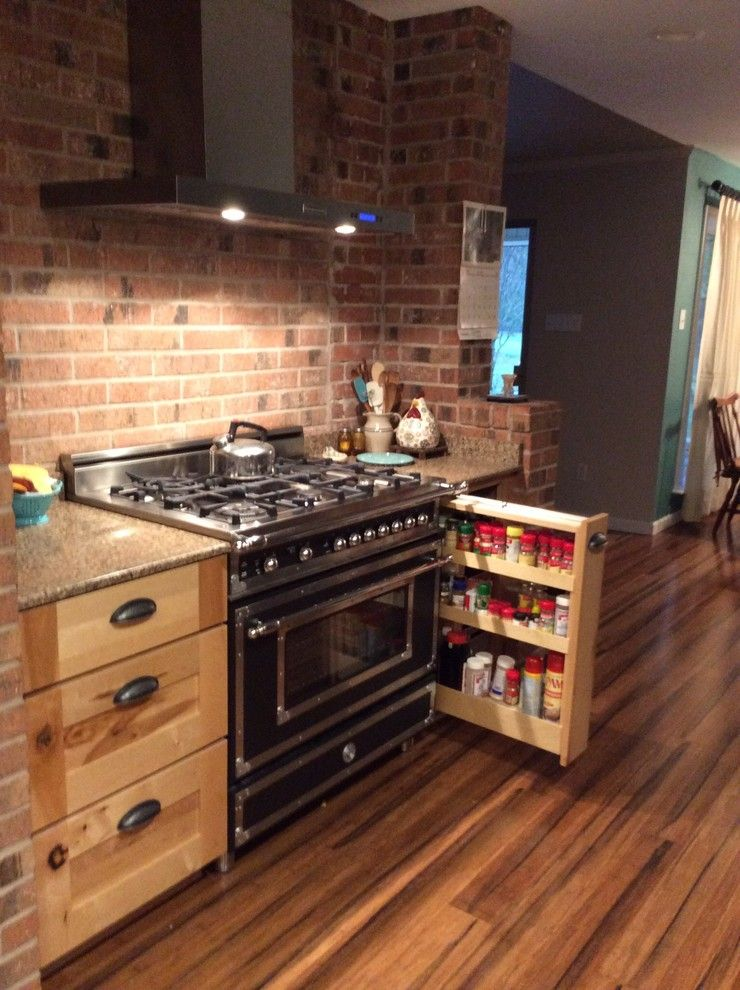 Lowes Lufkin Tx for a Rustic Spaces with a Spice Rack and Schuler Holbrook Rustic Maple by Lowe's of Lufkin, Tx/ Kevin Holman