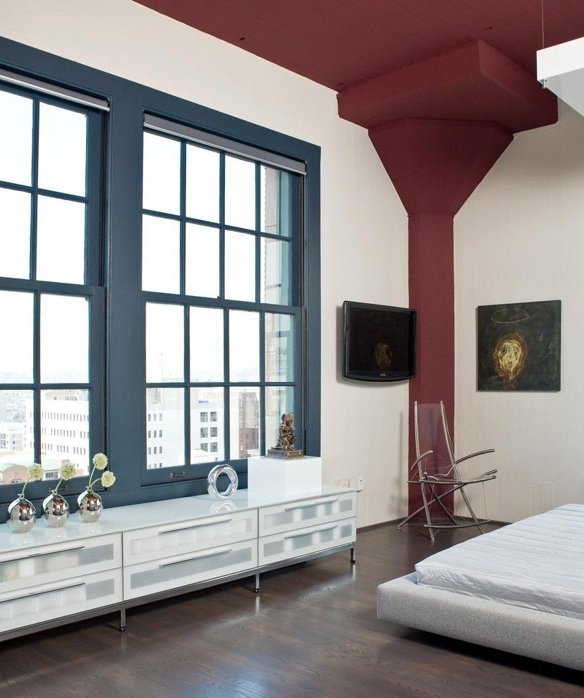 Lowes Panama City for a Modern Bedroom with a Maroon Accent and San Francisco Downtown Loft by Applegate Tran Interiors
