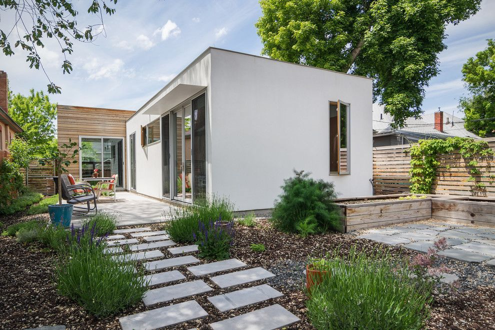Lowes Panama City for a Modern Exterior with a Awning and My Houzz: A Modern Home Meets Its Neighbors Halfway by Lucy Call