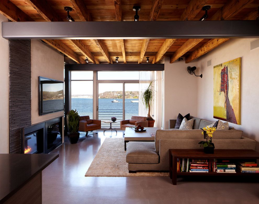Lowes Panama City for a Modern Living Room with a Water View and Port Washington Residence by Narofsky Architecture + Ways2design