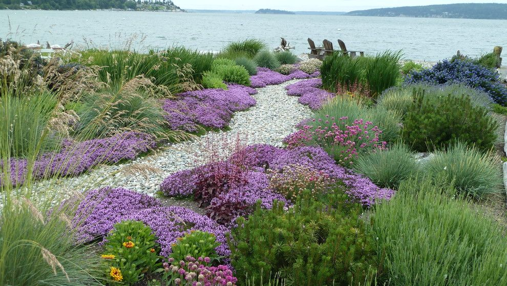 Lowes San Antonio for a Traditional Landscape with a Rock Pathway and Coan Waterfront Landscape, Camano Island, Wa by Lankford Associates Landscape Architects