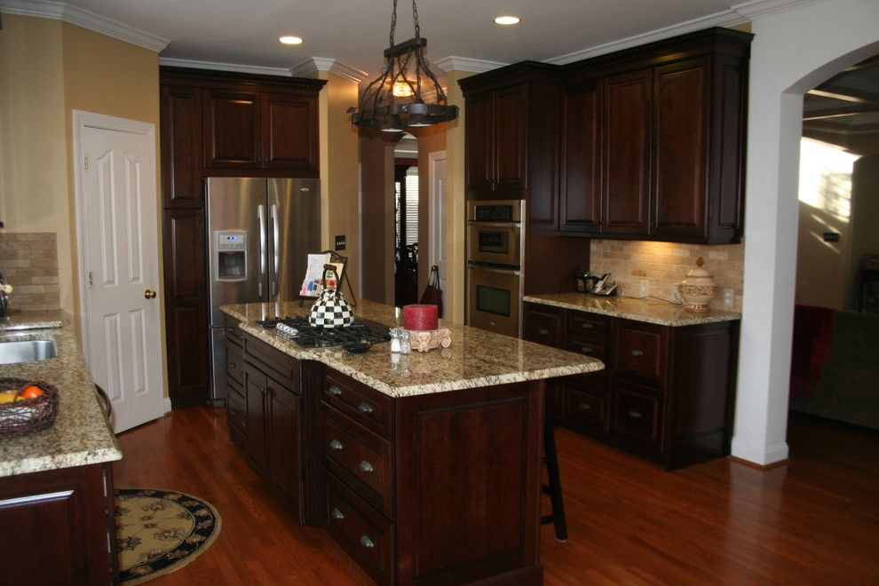 Lowes Seneca Sc for a Traditional Kitchen with a Pot Rack with Lights and Kraftmaid Montclair Cherry   Deason by Lowes of Indian Land, Sc