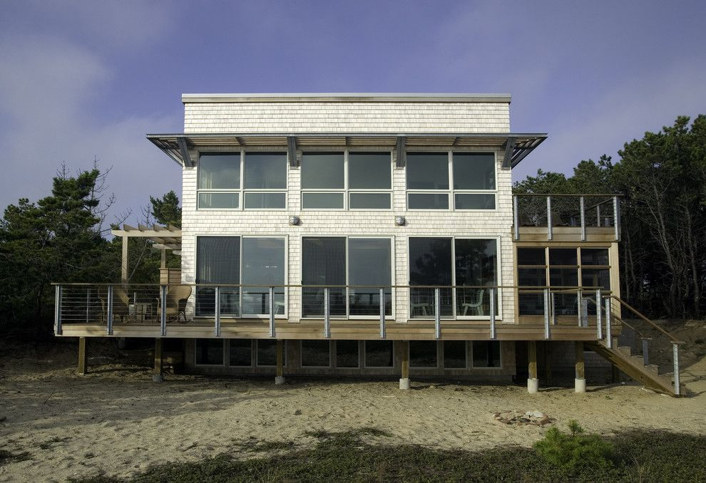 Lowes Vero Beach for a Beach Style Exterior with a Overhang and Bay View Beach Residence, Wellfleet by Hammer Architects