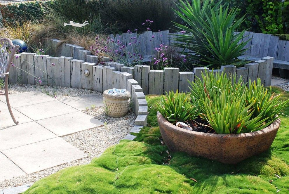 Lowes Vero Beach for a Rustic Landscape with a Sleepers and Rustic Beach Garden by Earthwork Landscape Architects