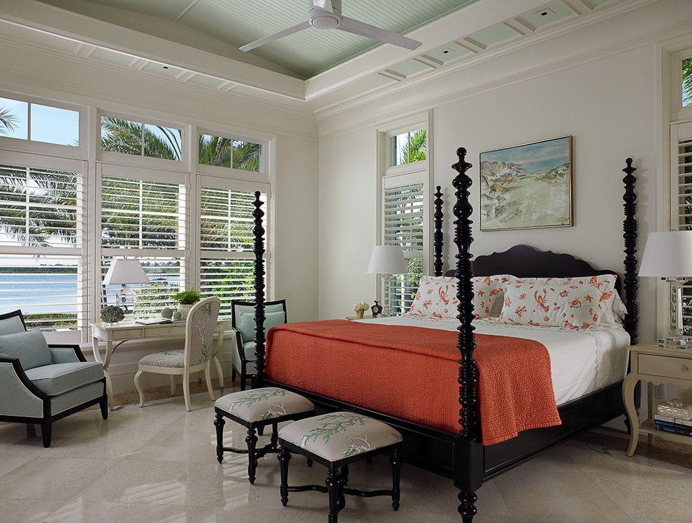 Lowes Vero Beach for a Tropical Bedroom with a Beachhouse and Florida Beachfront Residence - Vero Beach, USA by John David Edison Interior Design Inc.