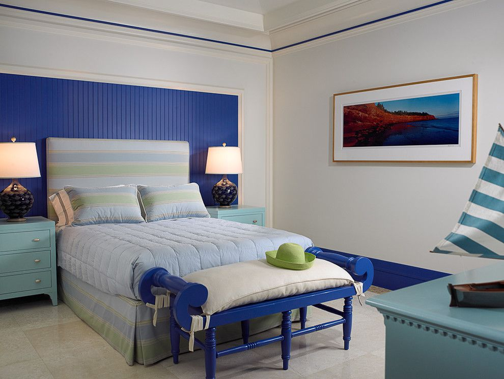 Lowes Vero Beach for a Tropical Bedroom with a Vacation and Florida Beachfront Residence   Vero Beach, Usa by John David Edison Interior Design Inc.