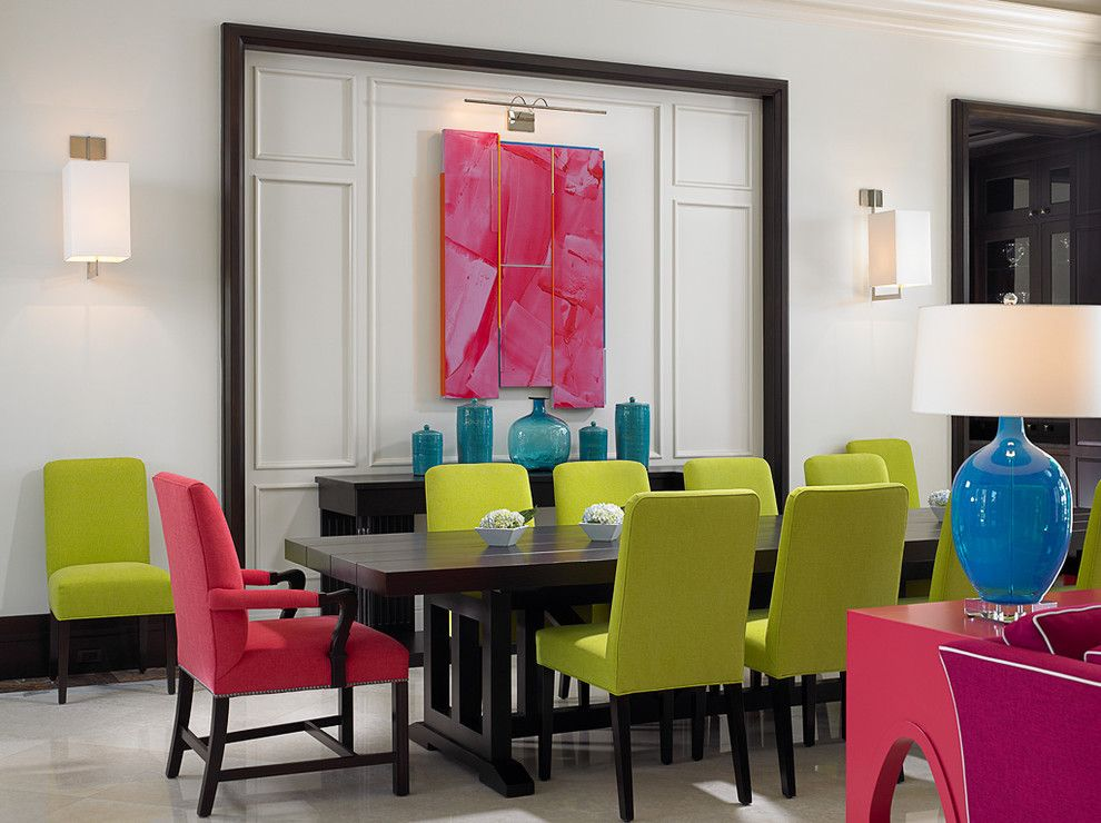 Lowes Vero Beach for a Tropical Dining Room with a Turquoise and Florida Beachfront Residence   Vero Beach, Usa by John David Edison Interior Design Inc.
