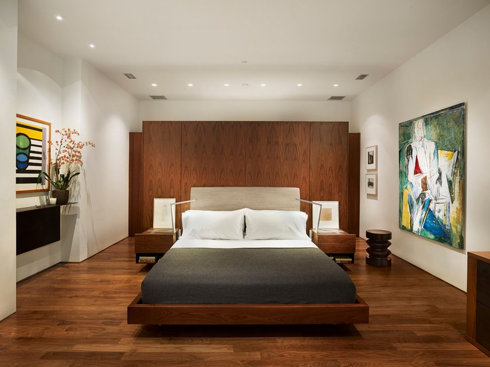Lowes Woodbridge Va for a Modern Bedroom with a Walnut Wall and Rubin Residence by Verner Architects