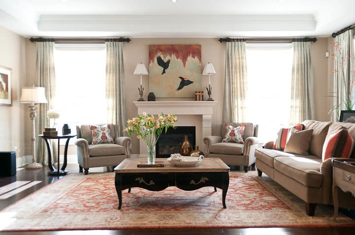 Lumar for a Traditional Family Room with a Interior Designer Aurora and Aurora, Ontario Belfontain Project by Lumar Interiors
