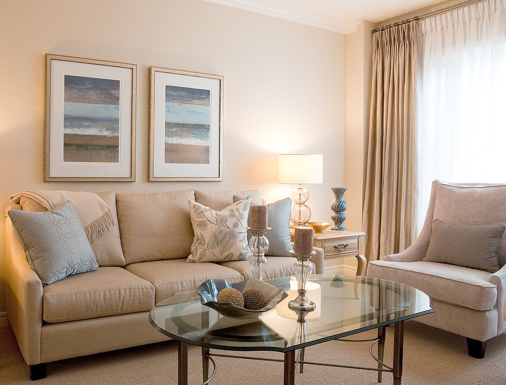 Lumar for a Traditional Living Room with a Glass Coffee Table and Richmond Hill, Ontario 'Refresh' Project by Lumar Interiors
