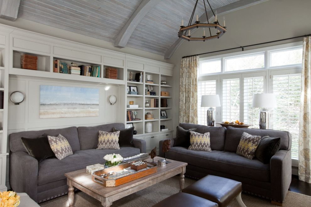 Lyndon Furniture for a Eclectic Family Room with a Built Ins and Lutherville Residence by Elizabeth Reich