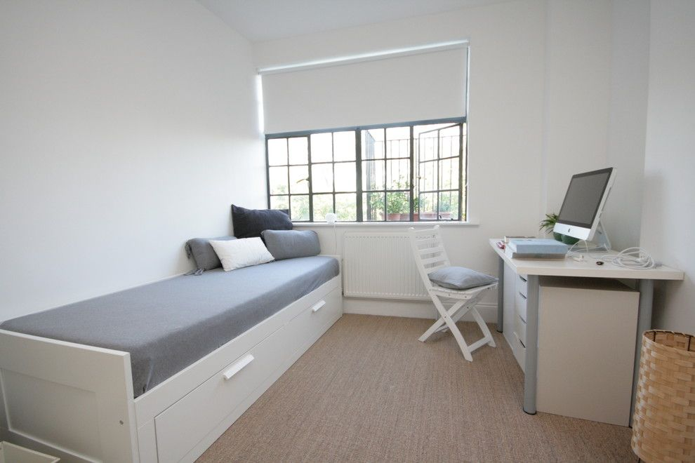 Malm Ikea Bed for a Contemporary Bedroom with a Bedroom Ideas for Teen Boys and Flat Renovation London by Ajax Builders