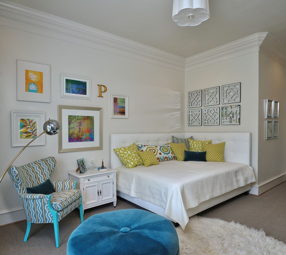 Malm Ikea Bed for a Eclectic Kids with a Throw Pillows and Showhouse Bedroom for Teen Girl by Carla Aston | Interior Designer