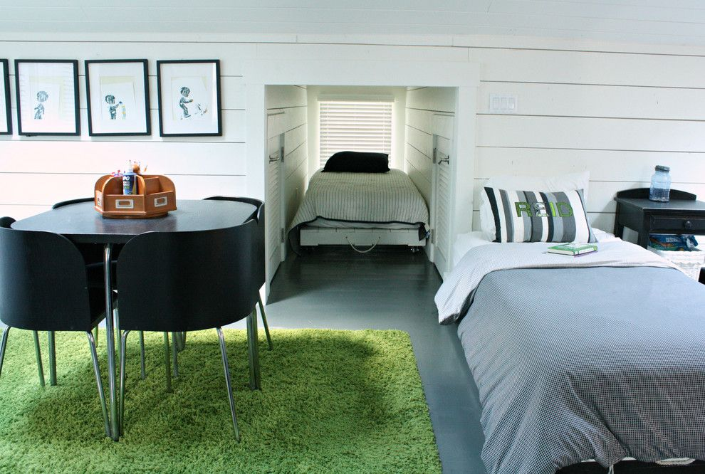 Malm Ikea Bed for a Transitional Bedroom with a Attic and Gerardi Home by Mina Brinkey