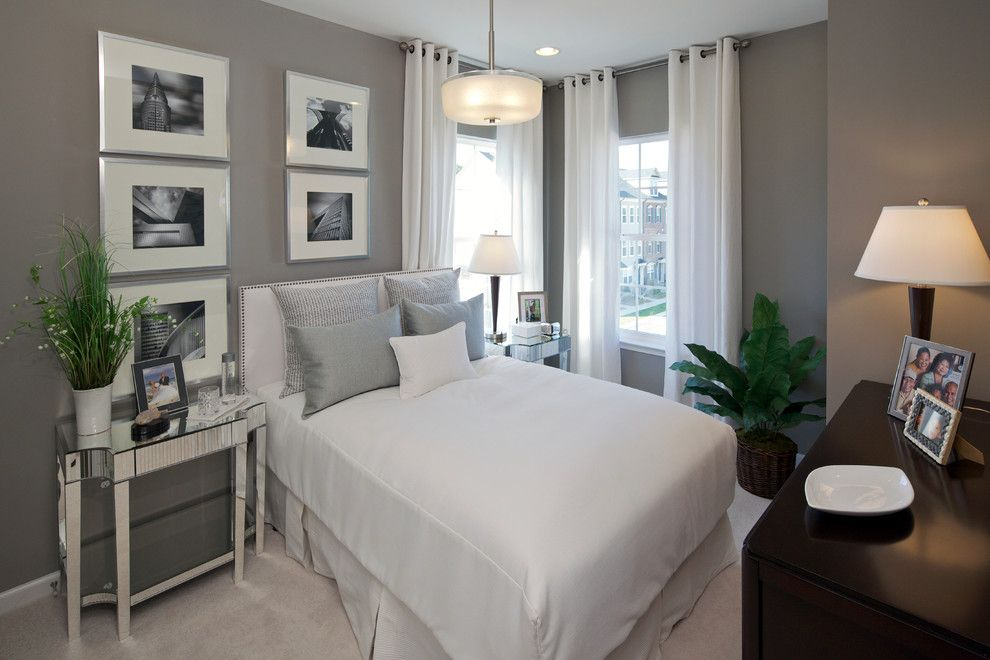 Martin Senour Paints for a Contemporary Bedroom with a Gray Walls and Wyeth by Carlyn and Company Interiors + Design