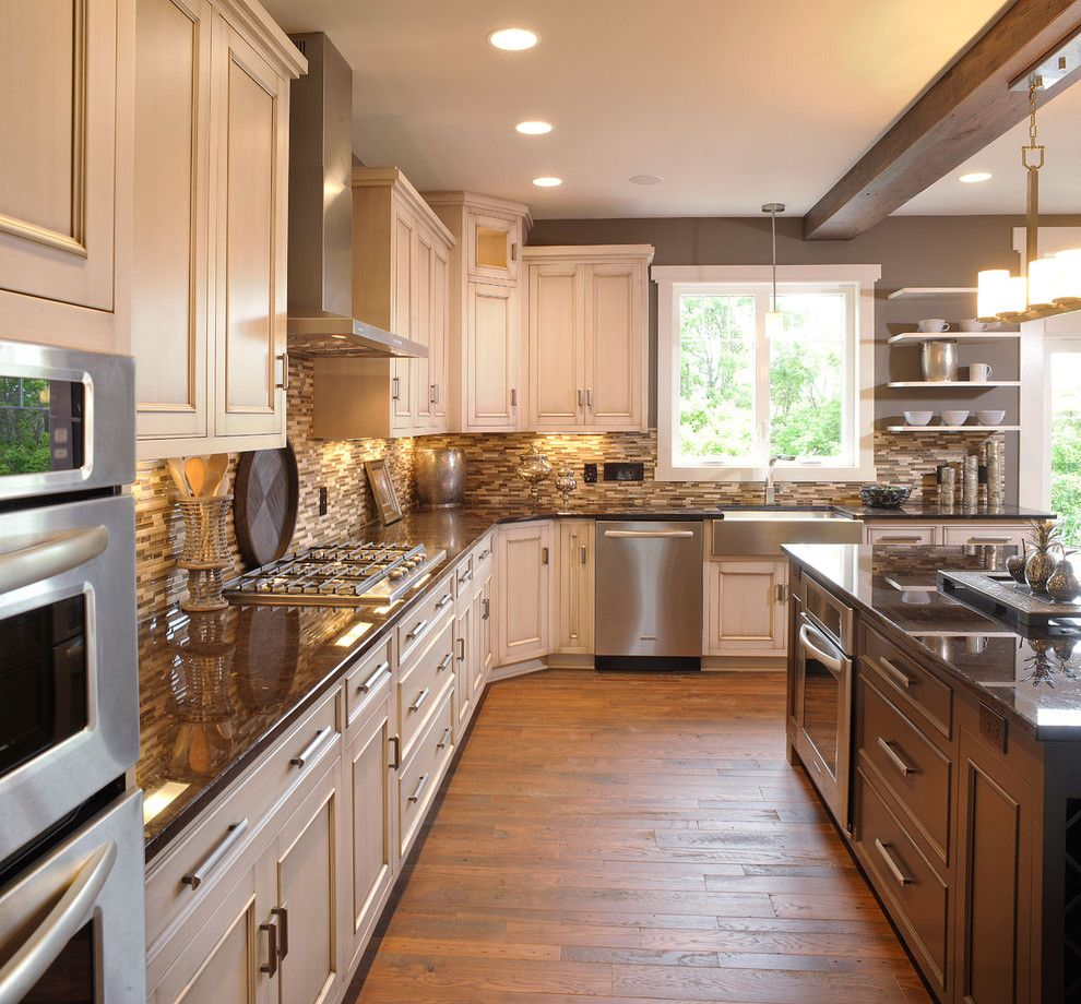 Martin Senour Paints for a Traditional Kitchen with a Recessed Lighting and Olentangy Falls ~ Delaware, Oh by Weaver Custom Homes