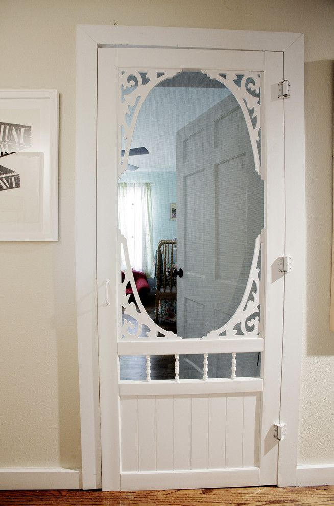 Midwest Homes for Pets for a Farmhouse Entry with a Screen Door and My Houzz: Toys and Art Make Merry in a Texas Home by Lindsay Von Hagel