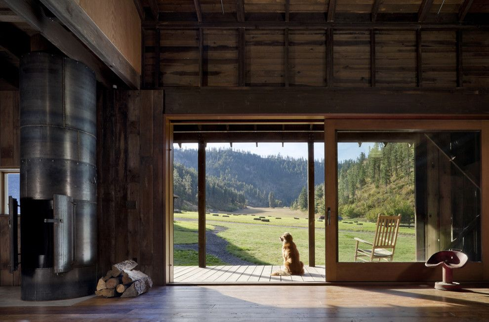 Midwest Homes for Pets for a Rustic Family Room with a Farm and Canyon Barn by Mw|Works Architecture+Design