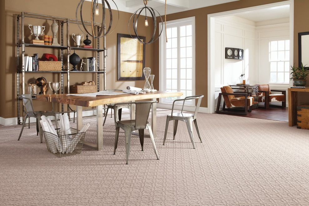 Mohawk Smartstrand for a Farmhouse Dining Room with a Farmhouse and Mohawk SmartStrand by the Carpet Guys