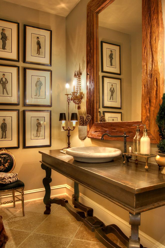 Mor Furniture Boise for a Traditional Powder Room with a Baseboards and Traditional Powder Room by Syringarealty.com