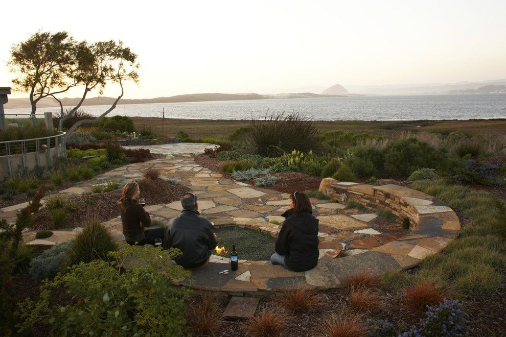 Morro Bay Theater for a Beach Style Landscape with a Paver and Back Bay Retreat by Jeffrey Gordon Smith Landscape Architecture