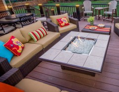 Nebraska Furniture Mart Des Moines for a Modern Deck with a Stripes and Clifton Park Deck by Bespoke Decor