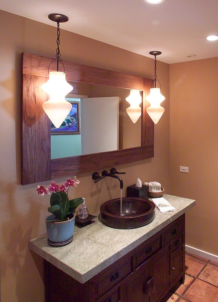 Nessen Lighting for a Tropical Bathroom with a Pendant Lighting and Kailua Home by Archipelago Hawaii Luxury Home Designs