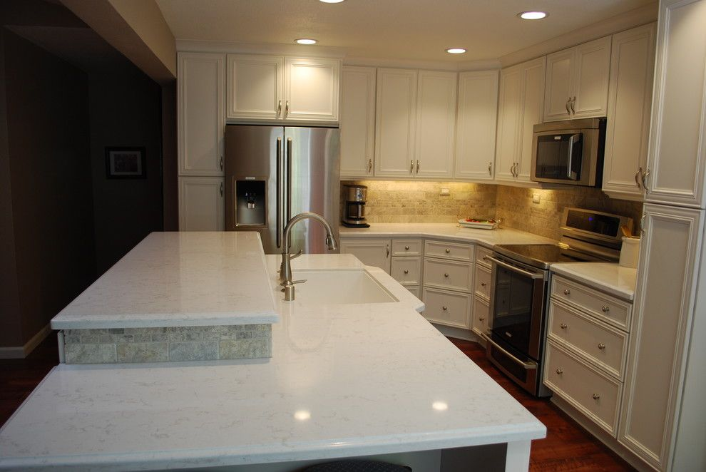 Nicor Lighting for a Contemporary Kitchen with a with Cambria Countertops and Citrus Heights Kitchen by Kitchen Mart