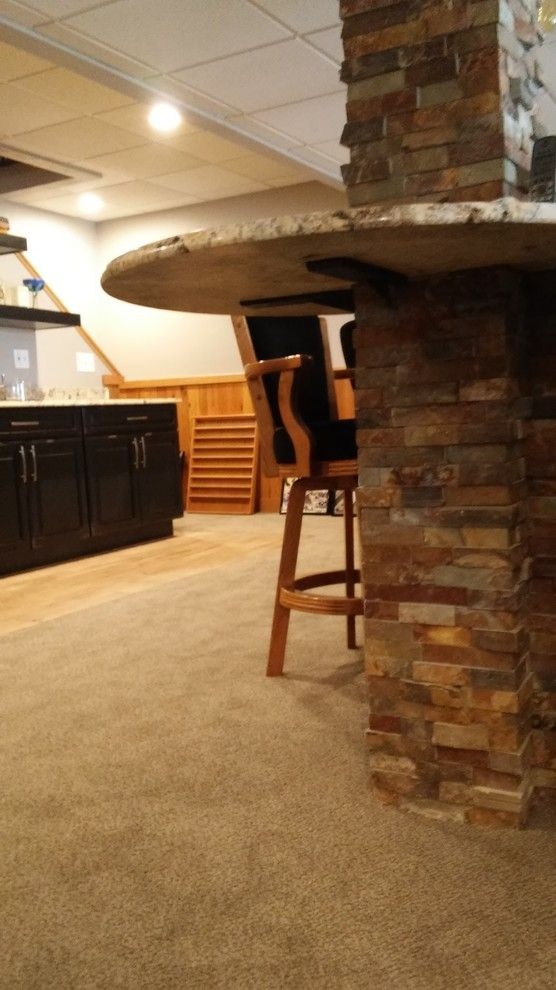 Nicor Lighting for a Traditional Basement with a Black Cabinets and Greensburg Basement Roughhouse by Pittsburgh Basement Company