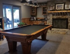 Nicor Lighting for a Traditional Basement with a Edison Amber Bulb and Greensburg Basement Roughhouse by Pittsburgh Basement Company