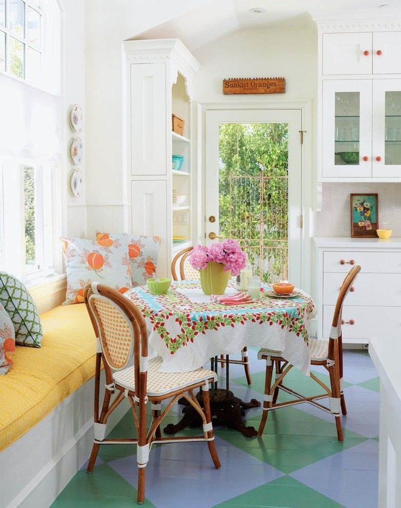Nook Bistro for a Beach Style Dining Room with a Fun Hardware and Beach Cottage by Alison Kandler Interior Design