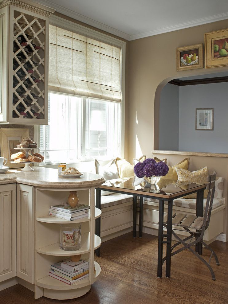 Nook Bistro for a Traditional Kitchen with a Window Treatments and Bay Street by Ken Gutmaker Architectural Photography