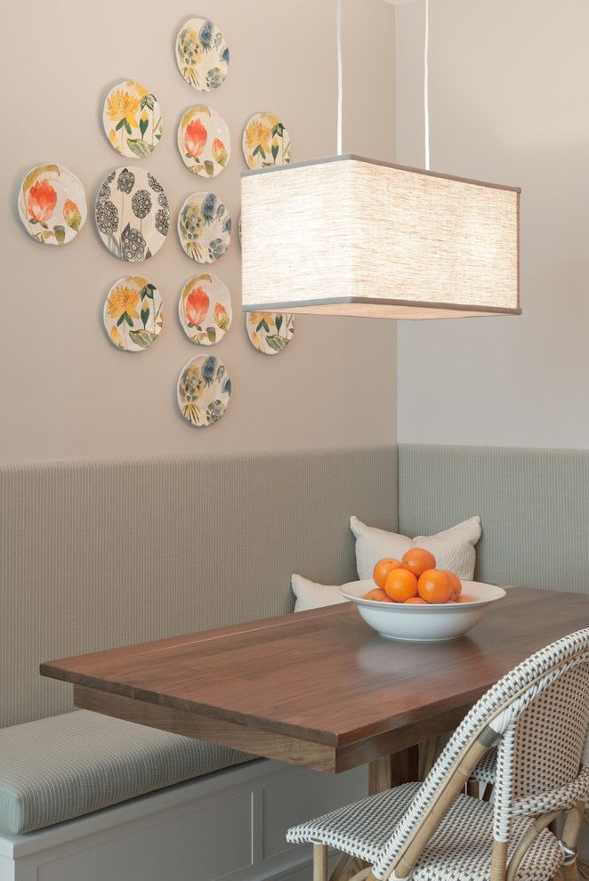 Nook Bistro for a Transitional Dining Room with a Wood Table and Downtown Condo by Twelve Chairs