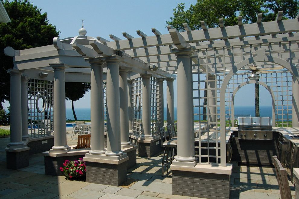 O Leary Paint for a Traditional Patio with a Tapered Columns and Exterior Images by Hibler Design Studio