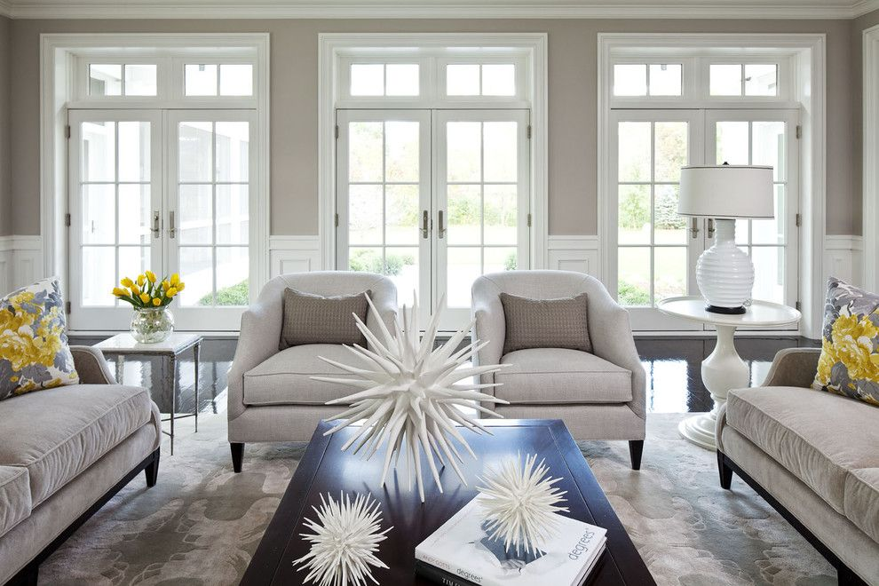 O Leary Paint for a Transitional Living Room with a Sofa and Parkwood Road Residence Living Room by Martha O'hara Interiors