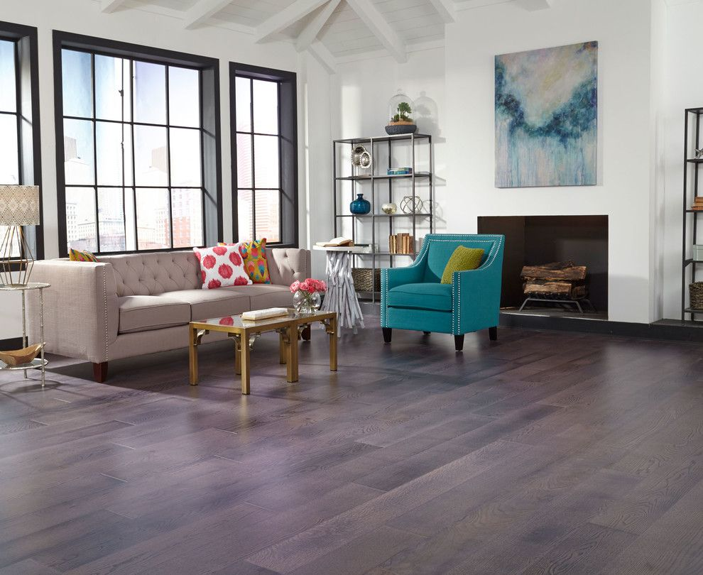 Oak Liquidators for a Contemporary Living Room with a Gold Coffee Table and Schön Engineered  3/8