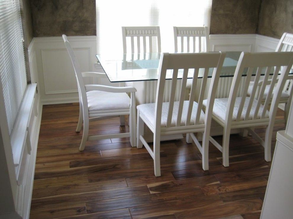 Oak Liquidators for a Traditional Dining Room with a Handscraped and Virginia Mill Works Tobacco Road Acacia Handscraped by Lumber Liquidators