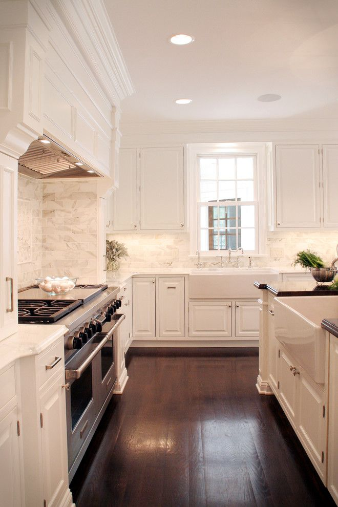 Ohio Valley Flooring for a Traditional Kitchen with a Farm Sink and Classic White Kitchen by House of L Interior Design