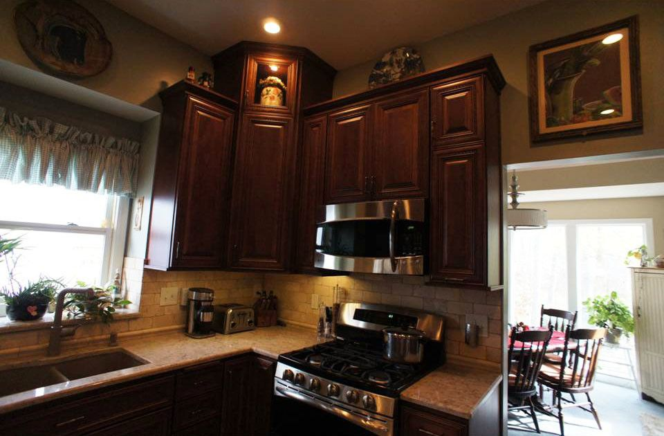 Olathe Glass for a Traditional Kitchen with a Family Kitchen and Kitchen Remodel, Olathe, Ks by Country Club Builders