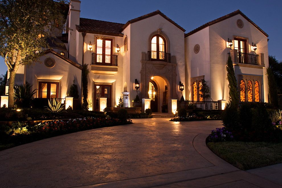 Pacesetter Homes for a Mediterranean Exterior with a Patio Doors and Kaleidoscope of Homes (Simmons Estate Homes) by Heritage Design Studio
