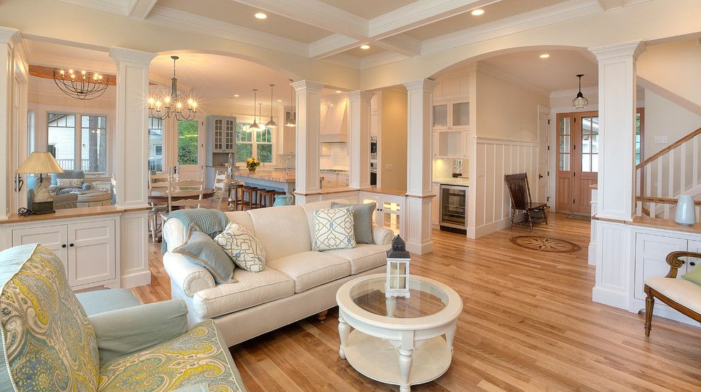 Pacesetter Homes for a Traditional Living Room with a Blues and Classic Cottage by Mac Custom Homes