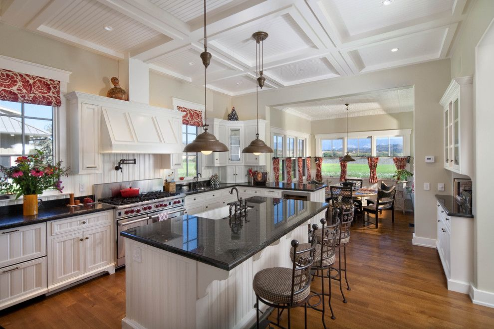 Peaceful Valley Farm Supply for a Farmhouse Kitchen with a Barn Pendant Lights and Modern Ranch Home by Tom Meaney Architect, Aia