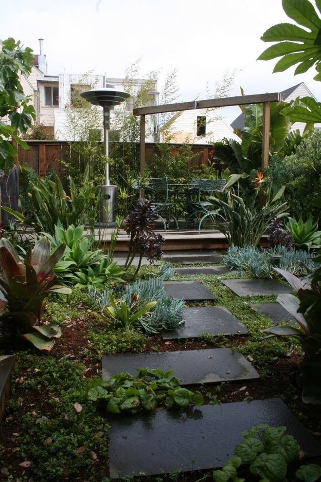 Peaceful Valley Farm Supply for a Modern Landscape with a Pavers and Noe Valley Tropical by Rarefield Design/build