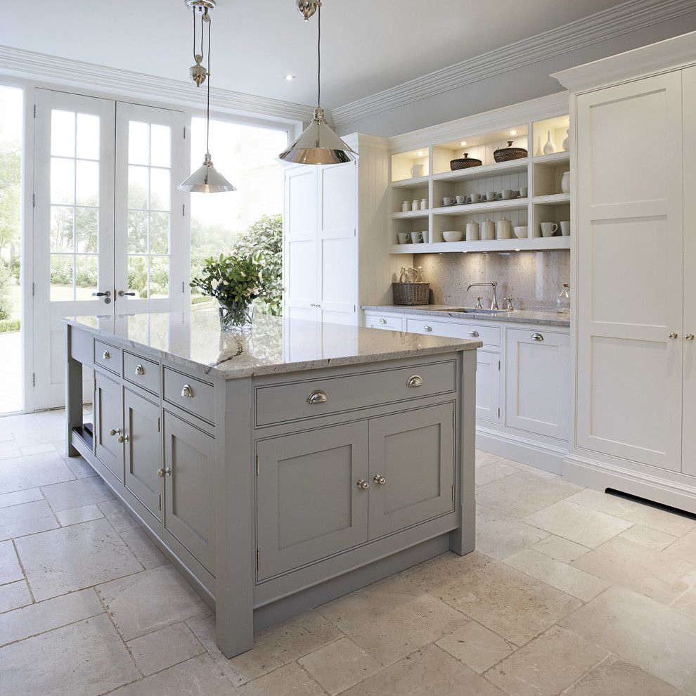Polyblend Grout Colors for a Transitional Kitchen with a French Doors and Contemporary Shaker Kitchen by Tom Howley Kitchens
